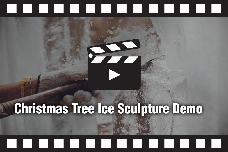 Christmas Tree Ice Sculpture Demo Video