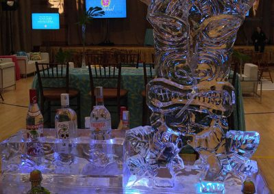 Ice Bar 029 Bottle Holder And Tiki Luge