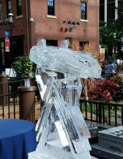 Ice Luge 004 Millennium Falcon