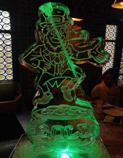 Ice Luge 008 St Patrick's Day Leprechaun