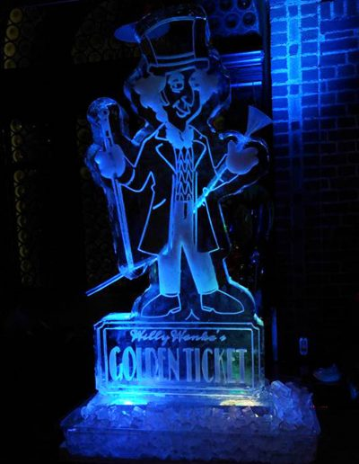 Ice Luge 013 Willie Wonka Golden Ticket