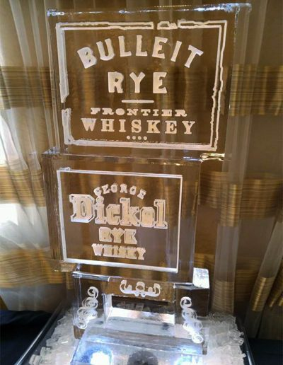 Ice Luge 033 Bulleit Rye Whiskey