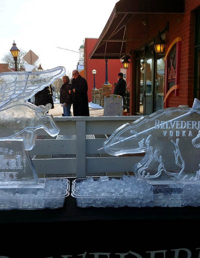 Ice Luge 035 Flying Pig And Polar Bears