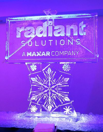 Ice Sculpture Logo 005 Radiant Solutions