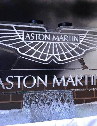 Ice Sculpture Logo 007 Aston Martin