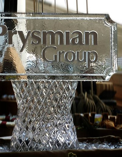 Ice Sculpture Logo 009 Prysmian Group