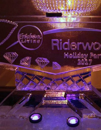Ice Sculpture Logo 010 Riderwood Holiday Party