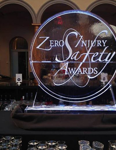 Ice Sculpture Logo 011 Safety Awards