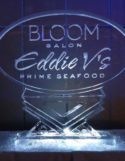 Ice Sculpture Logo 012 Eddie V's Prime Seafood