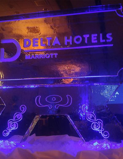 Ice Sculpture Logo 016 Delta Hotels