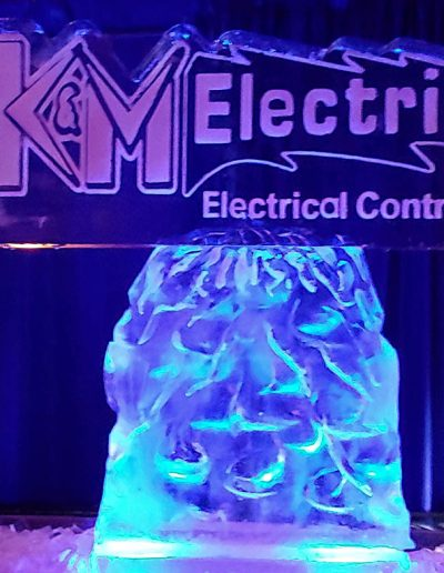 Ice Sculpture Logo 018 K And M Electric