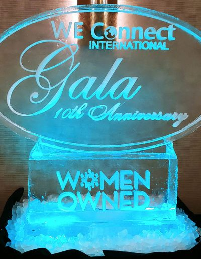 Ice Sculpture Logo 020 We Connect
