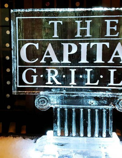 Ice Sculpture Logo 023 The Capital Grille