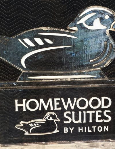Ice Sculpture Logo 025 Homewood Suites by Hilton
