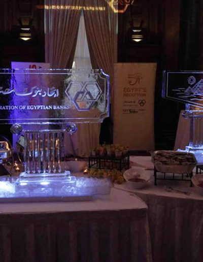 Ice Sculpture Logo 026 Federation of Egyptian Banks