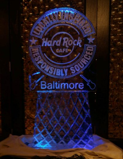 Ice Sculpture Logo 031 Hard Rock