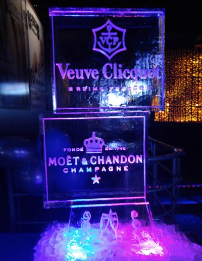 Ice Sculpture Logo 034 Moet And Chandon Champagne
