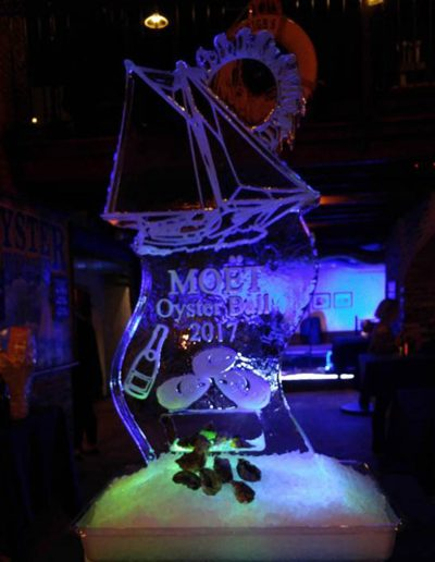 Ice Sculpture Logo 039 Moet Oyster Ball