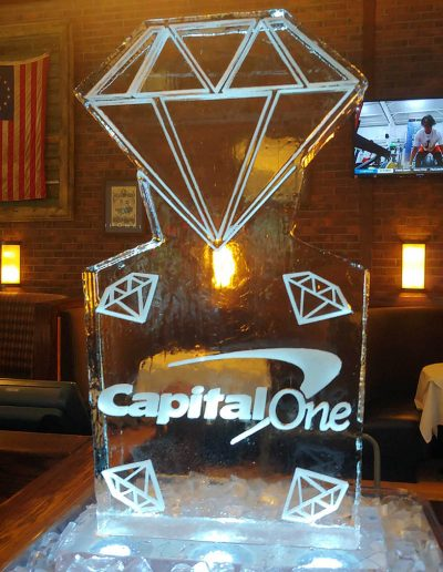 Ice Sculpture Logo 043 Capital One