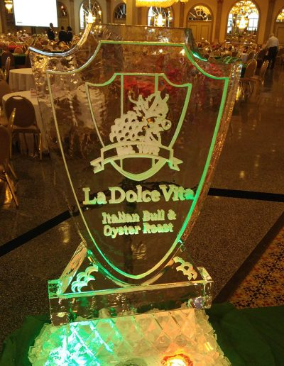 Ice Sculpture Logo 044 La Dolce Vita