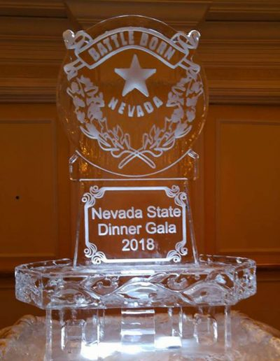 Ice Sculpture Logo 048 Nevada State Dinner Gala