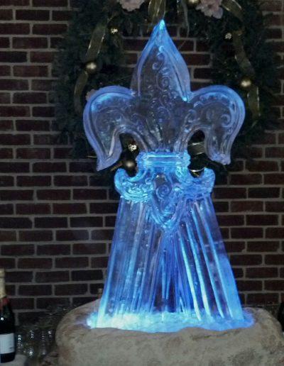 Ice Sculptures 021 Fleur De Lis