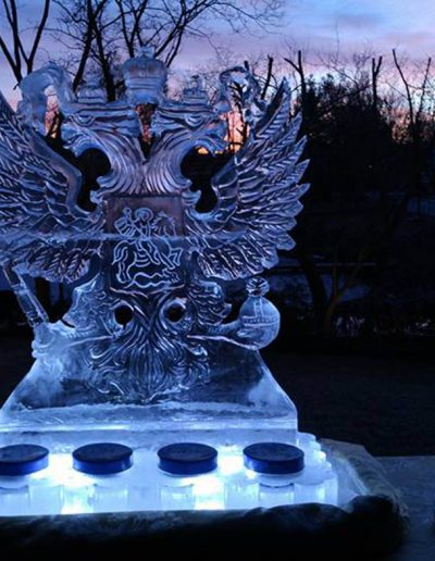 Ice Sculptures 047 Russian Eagle Caviar Station