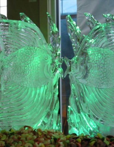 Ice Sculptures For Events 035 Kissing Angel Fish