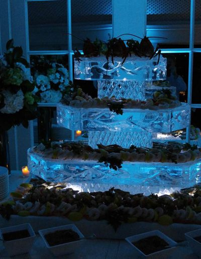 Ice Sculptures For Events 044 3 Tier Seafood Server