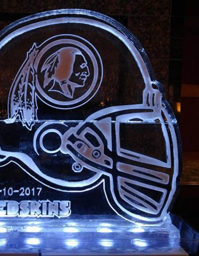Ice Sculptures For Events 061 Redskins