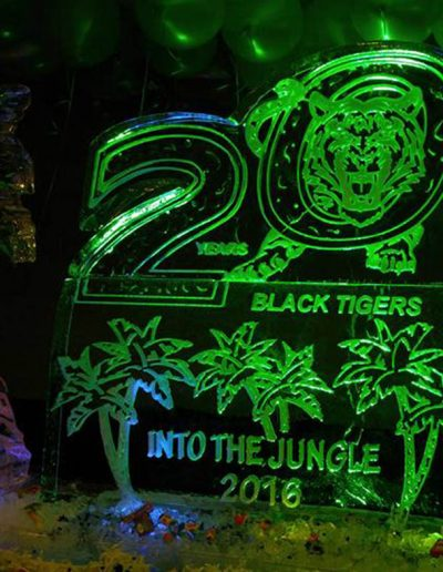 Ice Sculptures For Events 075 Black Tigers Anniversary
