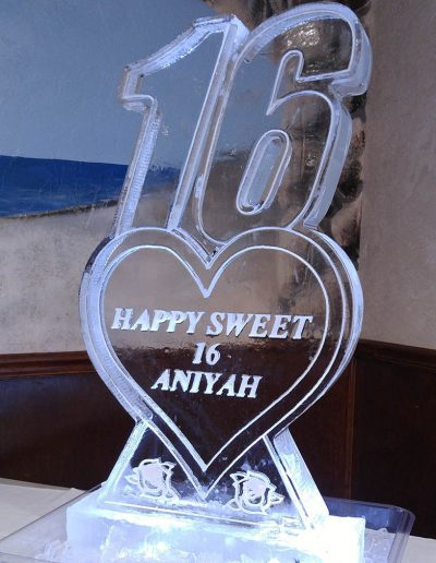 Ice Sculptures For Events 089 Sweet 16