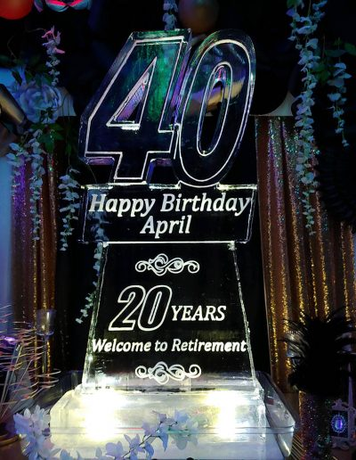 Ice Sculptures For Events 097 40th Birthday