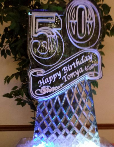 Ice Sculptures For Events 098 50th Birthday