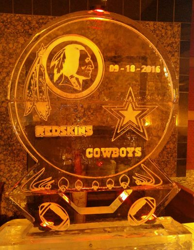 Ice Sculptures For Events 105 Redskins Vs Cowboys