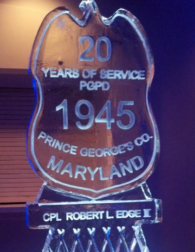 Ice Sculptures For Events 107 Badge 1945 Maryland Police Department