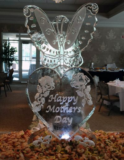 Ice Sculptures For Events 113 Heart And Butterfly