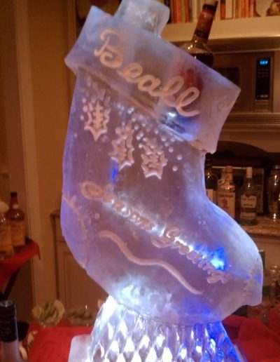 Ice Sculptures For Events 114 Christmas Stocking luge