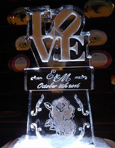 Wedding Ice Sculptures 001 Love