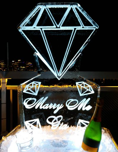 Wedding Ice Sculptures 003 Diamonds