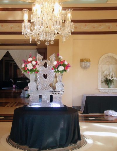 Wedding Ice Sculptures 005 Reception Hall