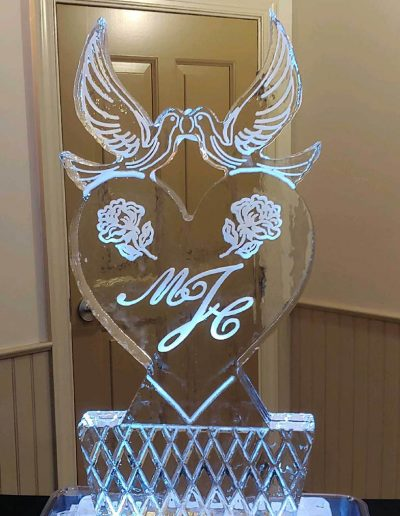 Wedding Ice Sculptures 006 Doves