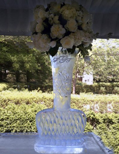 Wedding Ice Sculptures 009 Flower Vase