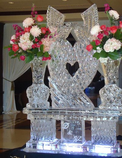 Wedding Ice Sculptures 015 Large Ice Sculpture