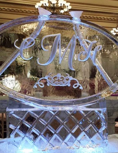 Wedding Ice Sculptures 019 Monogram