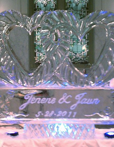 Wedding Ice Sculptures 021 Joined Hearts
