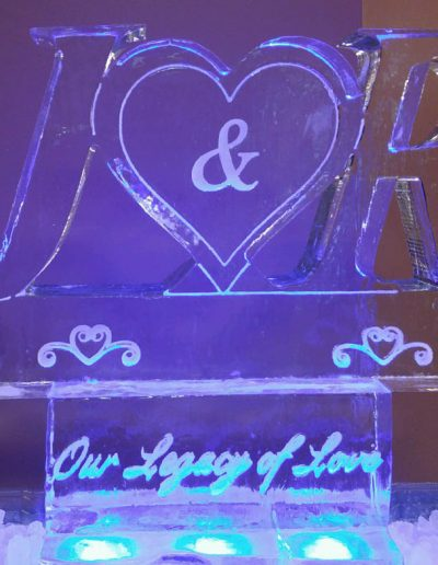 Wedding Ice Sculptures 024 Initials